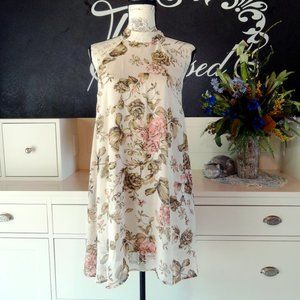 Mona B floral dress in size small